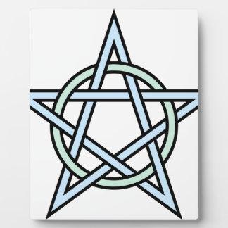 Pentagram-circle-interlaced Plaque