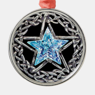 Pentagram Crystal Star Ornament