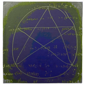 pentagram dark magic circle ritual napkin