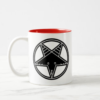 Pentagram Goat Two-Tone Coffee Mug