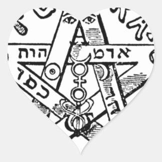 Pentagram_(Levi) Heart Sticker