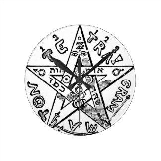 Pentagram_(Levi) Round Clock