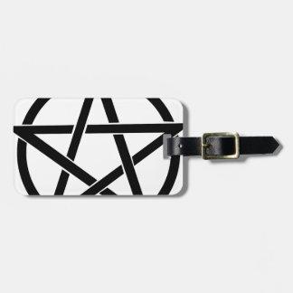 pentagram luggage tag