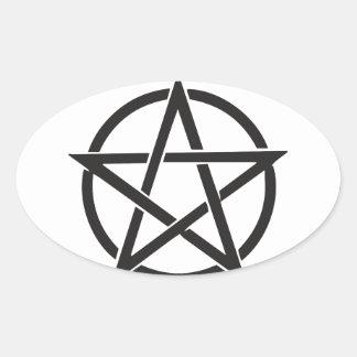 Pentagram Oval Sticker