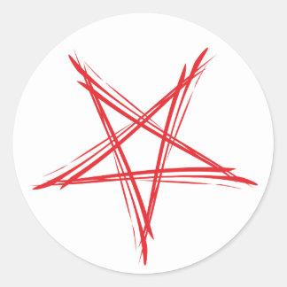 Pentagram pentacle classic round sticker