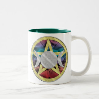 Pentagram Pentacle Triple Goddess cup Mug