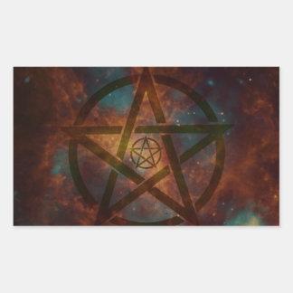 Pentagram Rectangular Sticker