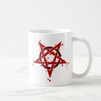 Pentagram Red Coffee Mug
