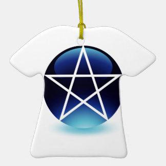 Pentagram- Religious symbol of satanism Christmas Ornaments