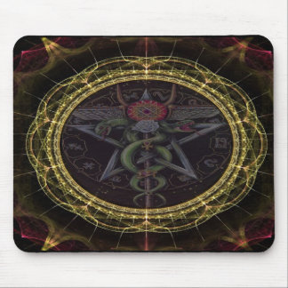 Pentagram Snakes Mouse Pad