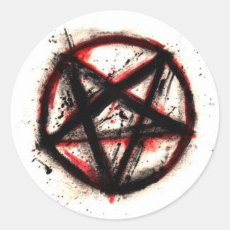 Pentagram Stickers, sheet of 6 Classic Round Sticker