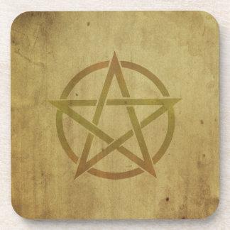 Pentagram Textured Coaster