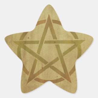 Pentagram Textured Star Sticker