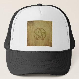 Pentagram Textured Trucker Hat