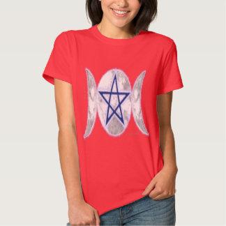 Pentagram Triple Moon3 Ladies T-Shirt