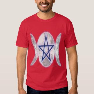 Pentagram Triple Moon3 Men's Dark T-Shirt