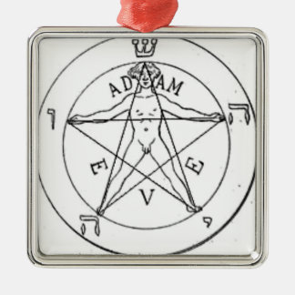 Pentagram_with_one_point_up Metal Ornament