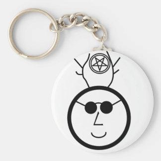 Pentagrammed Cernunnos In Shades Basic Round Button Key Ring