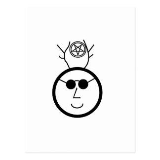 Pentagrammed Cernunnos In Shades Postcard