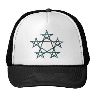 Pentagrams-interlaced-pattern Cap