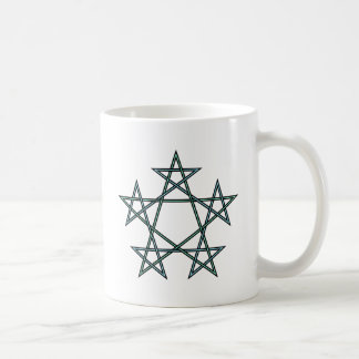Pentagrams-interlaced-pattern Coffee Mug