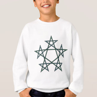 Pentagrams-interlaced-pattern Sweatshirt