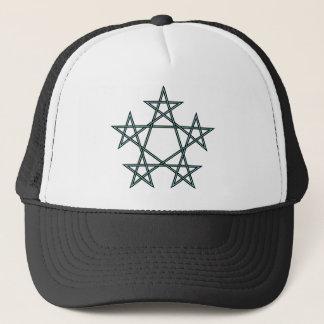 Pentagrams-interlaced-pattern Trucker Hat