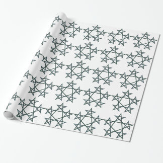 Pentagrams-interlaced-pattern Wrapping Paper