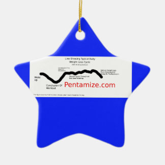 Pentamize.com Weight Loss Cycle Infographic Ceramic Ornament