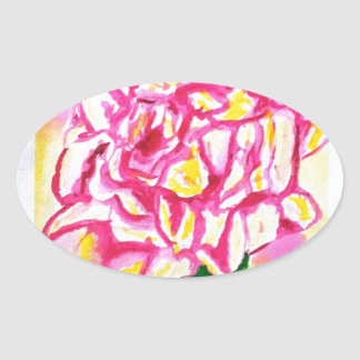 Peonie Oval Sticker