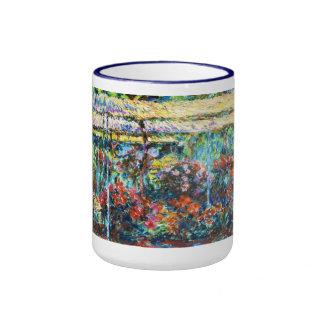 Peonies, 1887 Claude Monet cool, old, master Ringer Mug