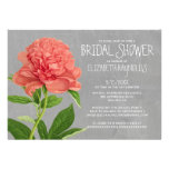Peonies Bridal Shower Invitations