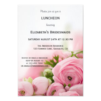 Peonies Bridesmaid Luncheon Invitation