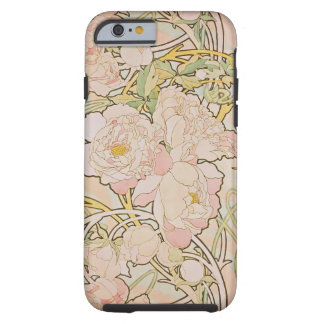 Peonies by Alphonse Mucha Tough iPhone 6 Case