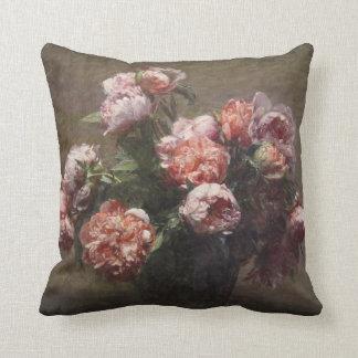 Peonies by Henri Fantin-Latour Throw Pillow