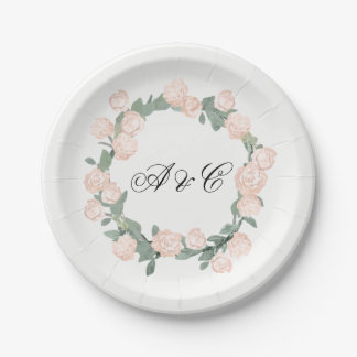 Peonies Floral Party Paper Plates