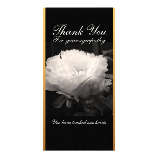 Peonies Floral Photography Thank You Card Custom Photo Card