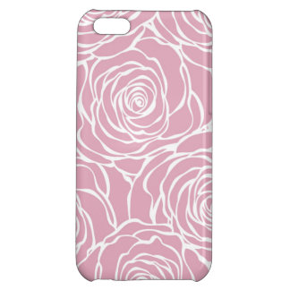 Peonies,floral,white,pink,pattern,girly,modern,bea iPhone 5C Cases