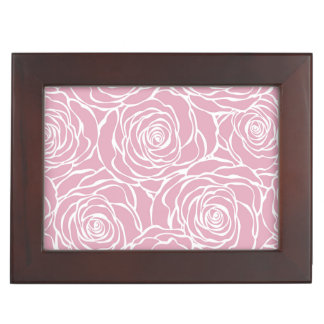 Peonies,floral,white,pink,pattern,girly,modern,bea Keepsake Box