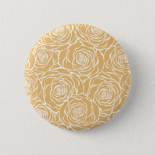 Peonies,floral,white,yellow,pattern,girly,modern 6 Cm Round Badge