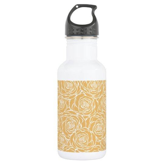 Peonies,floral,white,yellow,pattern,girly,modern,b 532 Ml Water Bottle