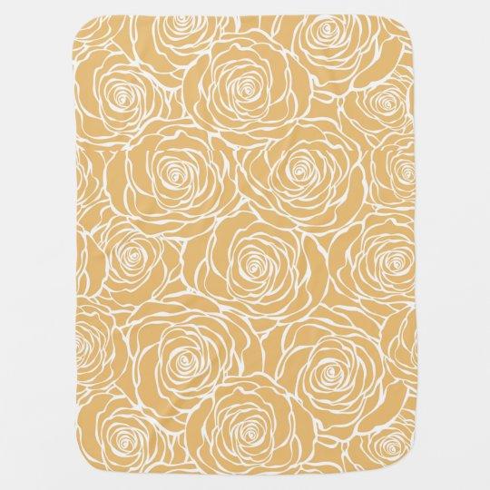 Peonies,floral,white,yellow,pattern,girly,modern,b Baby Blanket