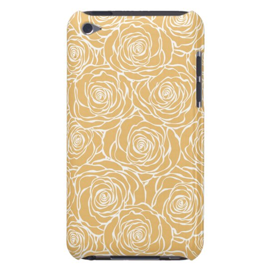 Peonies,floral,white,yellow,pattern,girly,modern,b Barely There iPod Covers