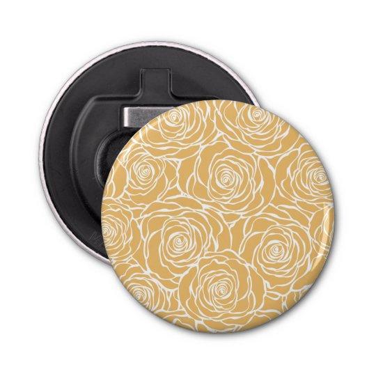 Peonies,floral,white,yellow,pattern,girly,modern,b Bottle Opener