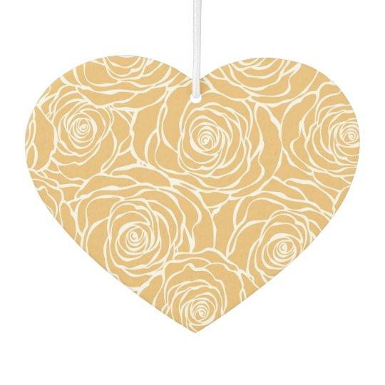 Peonies,floral,white,yellow,pattern,girly,modern,b Car Air Freshener