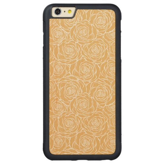 Peonies,floral,white,yellow,pattern,girly,modern,b Carved Maple iPhone 6 Plus Bumper Case