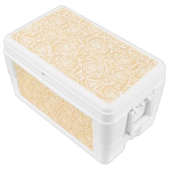 Peonies,floral,white,yellow,pattern,girly,modern,b Chest Cooler