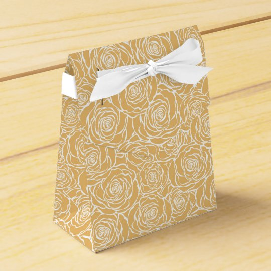 Peonies,floral,white,yellow,pattern,girly,modern,b Favour Box