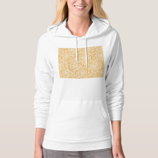 Peonies,floral,white,yellow,pattern,girly,modern,b Hoodie