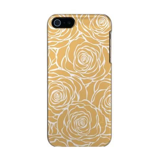 Peonies,floral,white,yellow,pattern,girly,modern,b Incipio Feather® Shine iPhone 5 Case